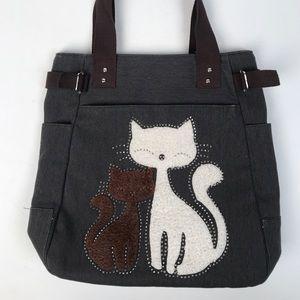 Handbags - Super Cute Kitty Tote/ Purse